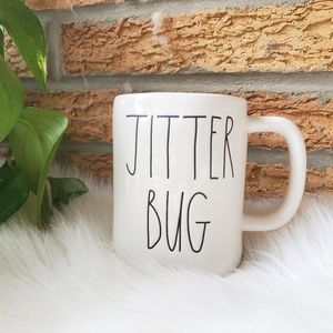 NWOT Rae Dunn White Jitter Bug Ceramic Coffee Mug